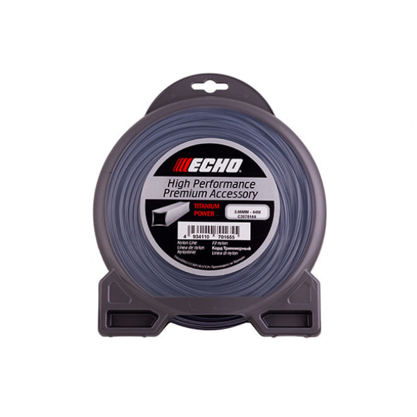 Корд триммерный Echo Titanium Power Line 3.0мм x 44м (квадрат)
