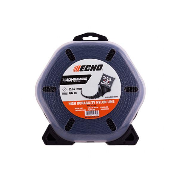 Корд триммерный Echo Black Diamond 2,7 мм*66 м